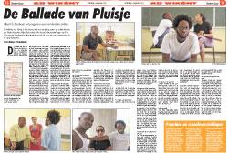 Achtergrondartikel Antillilaans Dagblad: De ballade van Pluisje